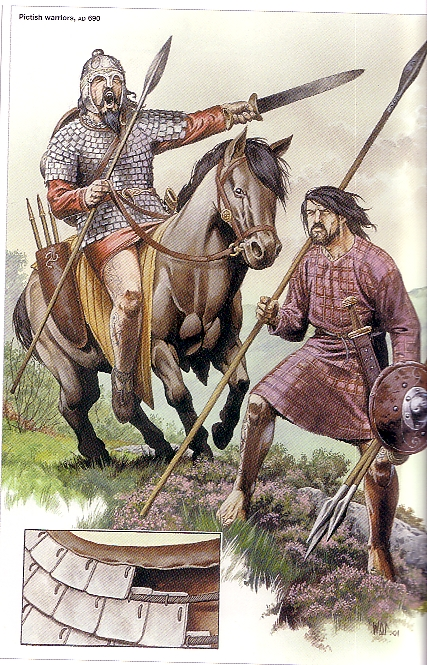 Pictish warriors sometimes seem to have been trained in the use of a long